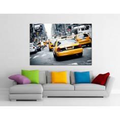 New york cab, πίνακας σε καμβά