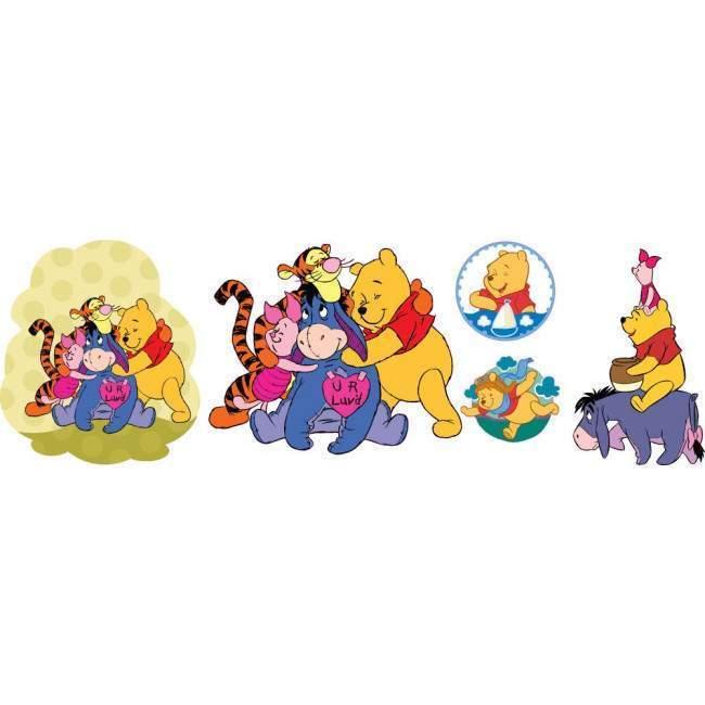 Winnie the Pooh, συλλογή αυτοκόλλητα τοίχου & επίπλων