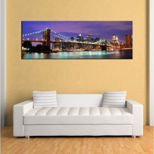 New York City , πανοραμικός πίνακας σε καμβά
