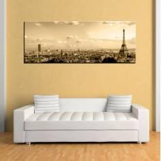 Paris skyine , πανοραμικός πίνακας σε καμβά