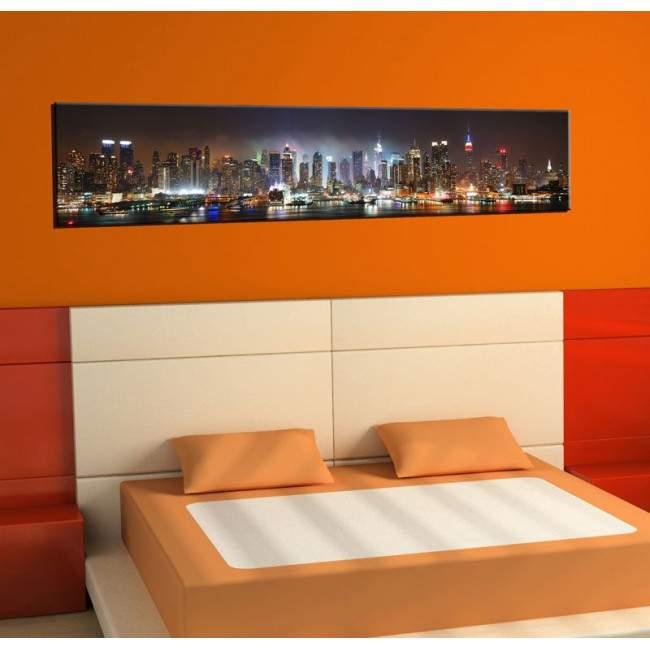 Πίνακας σε καμβά, New York extra panorama, πανοραμικός