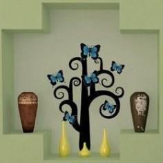 Δέντρο Με Πεταλούδες Αυτοκόλλητο τοίχου