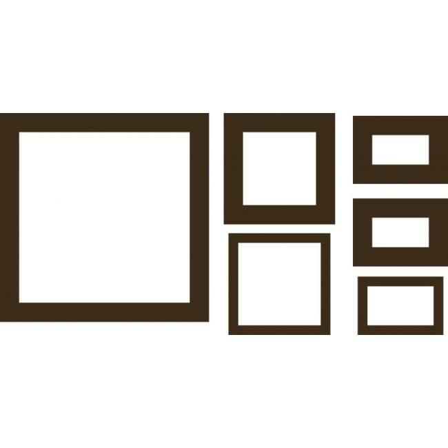 Τετράγωνα (Brown) , αυτοκόλλητο τοίχου
