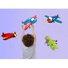 Αεροπλανάκια!, αυτοκόλλητα τοίχου με αεροπλανάκια σε πολλά χρώματα και μεγέθη