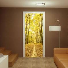 Φυλλα στο μονοπάτι, αυτοκόλλητο πόρτας