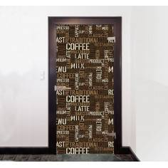 Cofee time, αυτοκόλλητο πόρτας