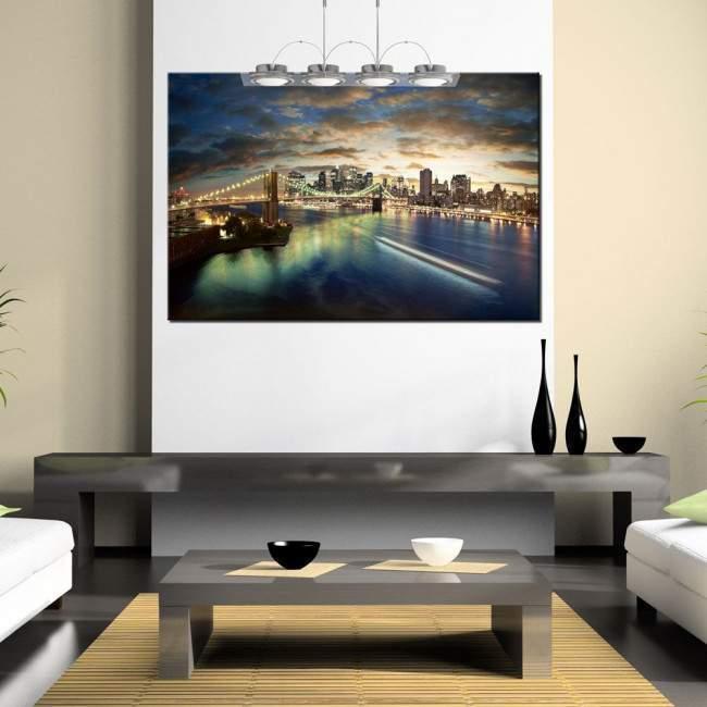 Πίνακας σε καμβά, Νέα Υόρκη, Amazing New York cityscape