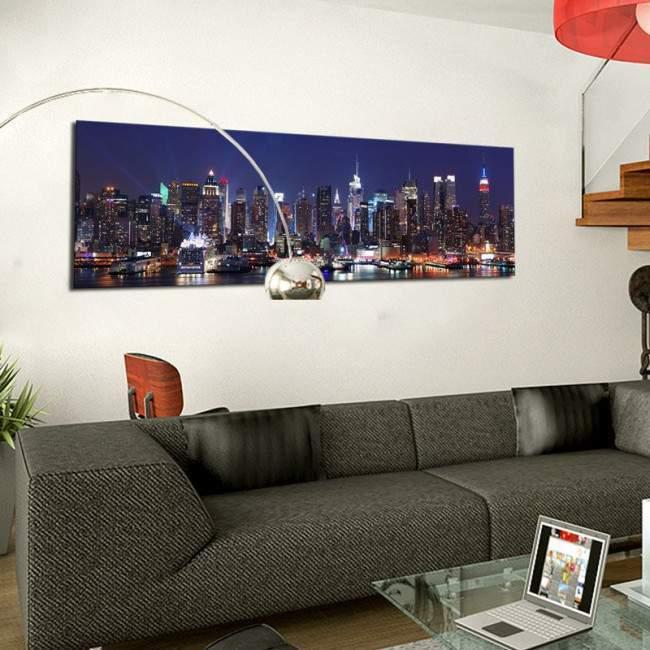 Manhattan skyline panorama, πανοραμικός πίνακας σε καμβά