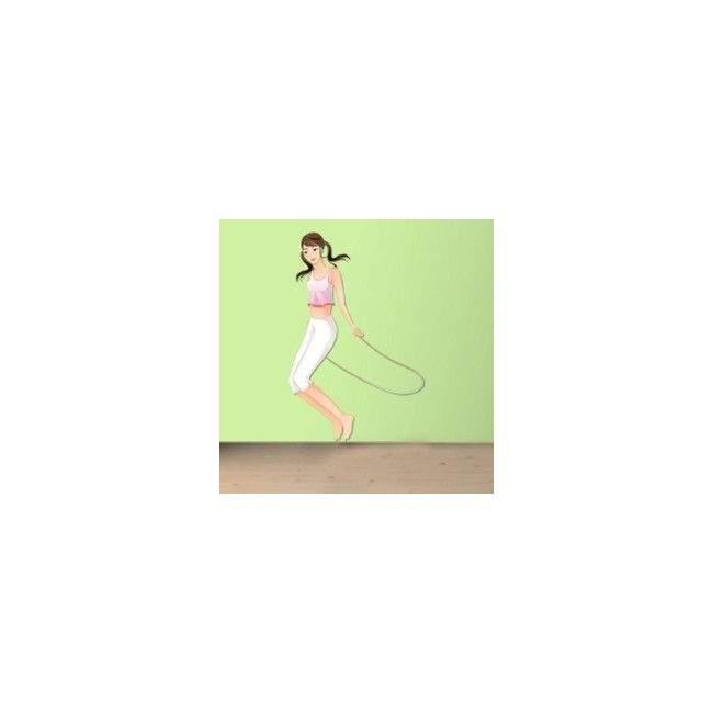 Γυναίκα Κάνει Σκοινάκι Αυτοκόλλητο τοίχου