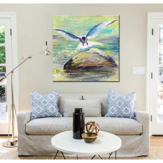 Seagull ,πίνακας σε καμβά