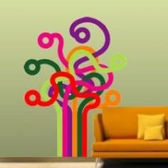 Αυτοκόλλητο τοίχου, Δέντρο γραμμών