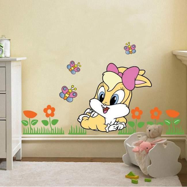 Baby Lola bunny, παράσταση σε αυτοκόλλητα τοίχου