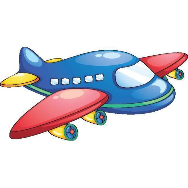Χαριτωμένο αεροπλανάκι , αυτοκόλλητο τοίχου