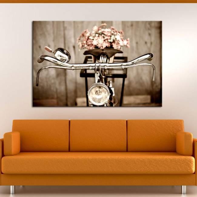Old bicycle, πίνακας σε καμβά