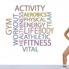 Fitness words, αυτοκόλλητο τοίχου