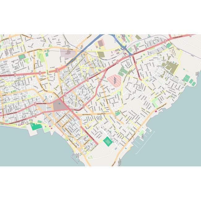Καλαμαριά χάρτης υψηλής ανάλυσης, πίνακας σε καμβά