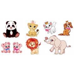 Baby animals σετ κωδ.2, αυτοκόλλητα τοίχου