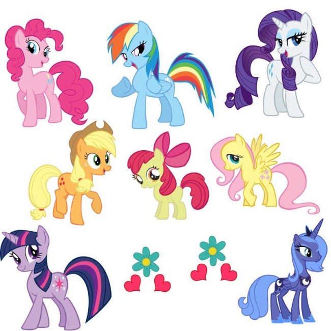 My little pony, αυτοκόλλητα τοίχου , επίπλων