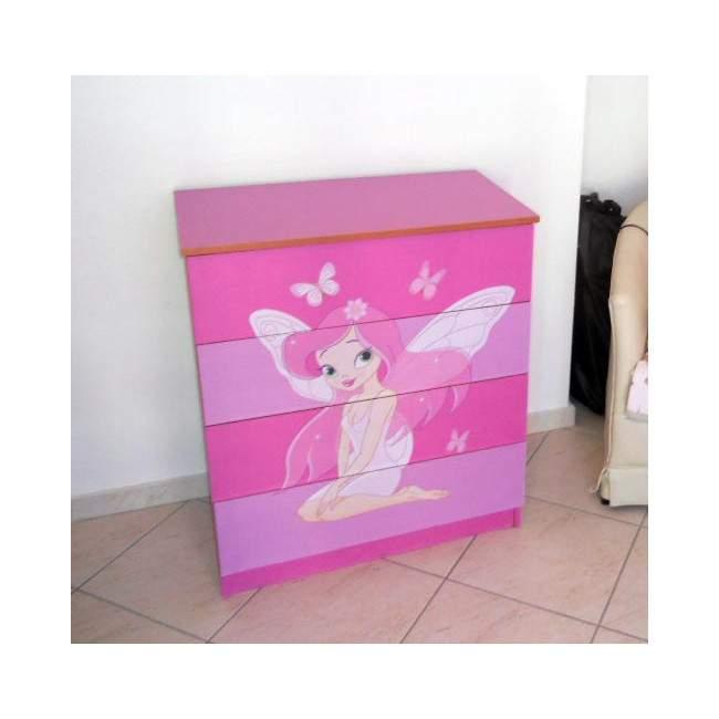 Ροζ νεράιδα ,αυτοκόλλητο συρταριέρας