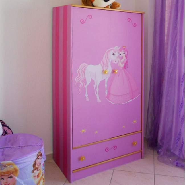 Πριγκίπισσα και το άλογο της ,αυτοκόλλητο πόρτας