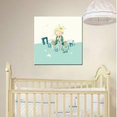 Πίνακας παιδικός σε καμβά, Πρίγκιπας, με όνομα