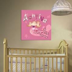 Μικρή πρίγκιπισσα, με όνομα, παιδικός - βρεφικός πίνακας σε καμβά