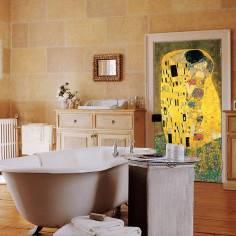 The kiss , Klimt, αυτοκόλλητο πόρτας