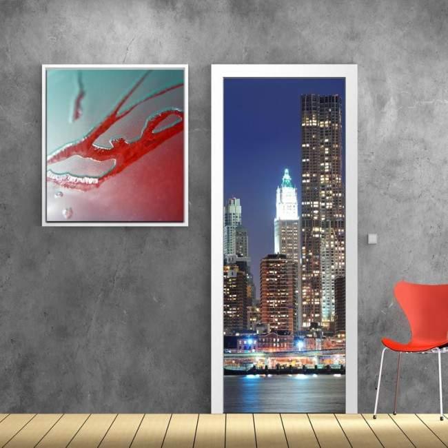 New York skyscrape, αυτοκόλλητο πόρτας