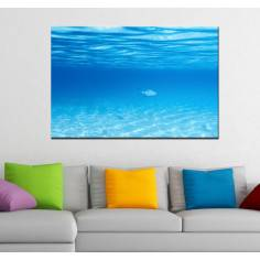 Πίνακας σε καμβά, Βυθός θάλασσας, Deep blue