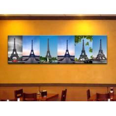 Eiffel instances, πανοραμικός πίνακας σε καμβά ,