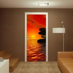 Αυτοκόλλητο πόρτας, Sunset balance