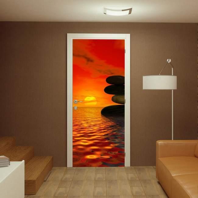Sunset balance, αυτοκόλλητο πόρτας