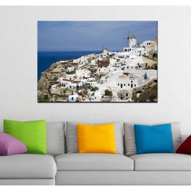 Santorini view ,πίνακας σε καμβά
