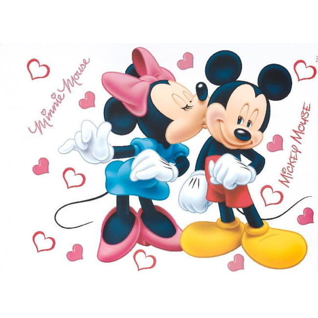 Mickey mouse & Mini mouse, αυτοκόλλητο τοίχου Disney