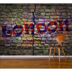Bricks London wall, ταπετσαρία τοίχου φωτογραφική