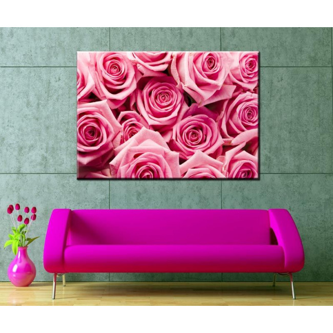 Pink roses,πίνακας σε καμβά