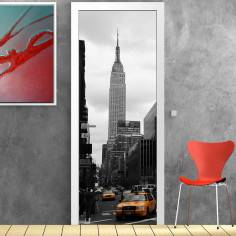 Empire State building, αυτοκόλλητο πόρτας