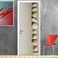 Stones and sand harmony, αυτοκόλλητο πόρτας