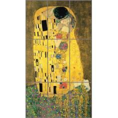 The kiss , Klimt , αυτοκόλλητο Ντουλάπας
