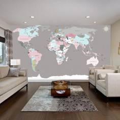 World map, φωτογραφική ταπετσαρία, ταπετσαρία τοίχου φωτογραφική