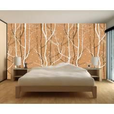 Trees , Φωτογραφική ταπετσαρία αυτοκόλλητη , brown colors