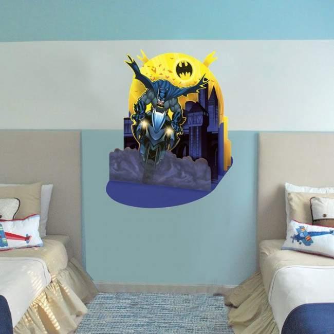 Batman στην μηχανή του , αυτοκόλλητο τοίχου
