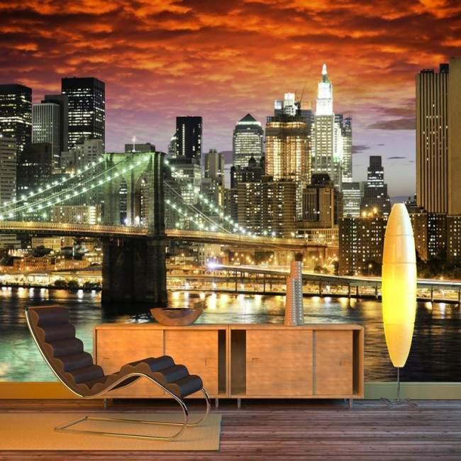 New York architecture , αυτοκόλλητη φωτογραφική ταπετσαρία