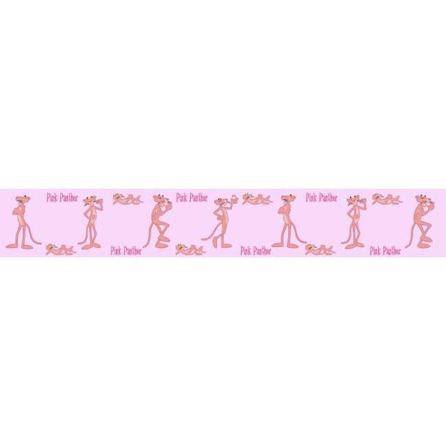 Ροζ πάνθηρας, 10 μέτρα , μπορντούρα αυτοκόλλητη