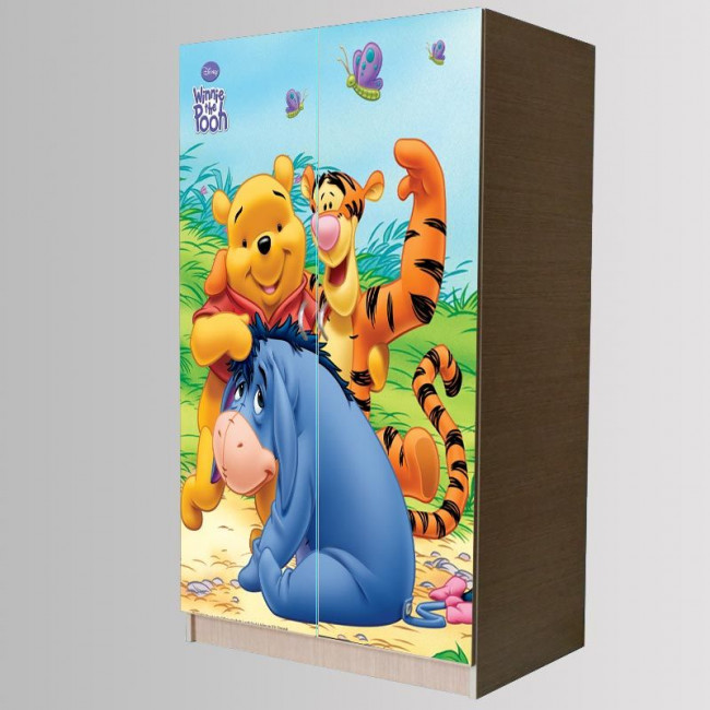 Winnie and Friends art 2 , Αυτοκόλλητο 2φυλλης ντουλάπας , διακοσμητικό