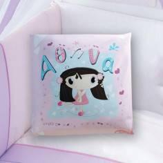 Κομψή..., 100 % βαμβακερό διακοσμητικό μαξιλάρι, με το όνομα που θέλετε!