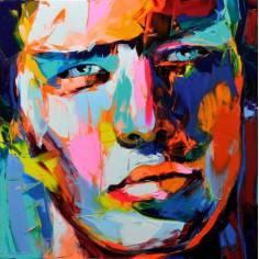 Ζωγραφική με σπάτουλα , πίνακας σε καμβά