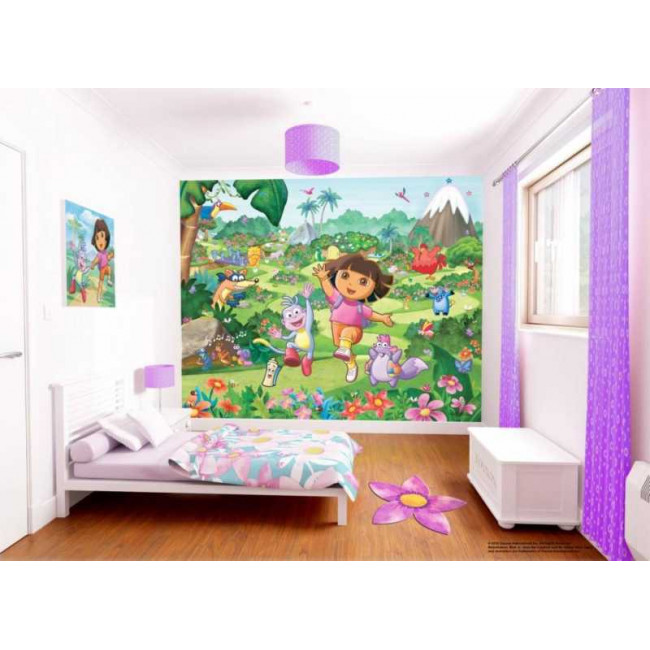 Dora η μικρή εξερευνήτρια, φωτογραφική ταπετσαρία αυτοκόλλητη, προσαρμοσμένες διαστάσεις