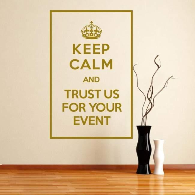 Keep Calm and trust us, αυτοκόλλητο τοίχου