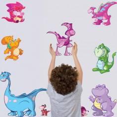 Γεμίσαμε δεινόσαυρους! μικρή συλλογή αυτοκόλλητα τοίχου